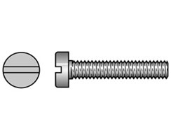 Machine Screws Brass and Steel Zinc Plated Cheese Head Slot