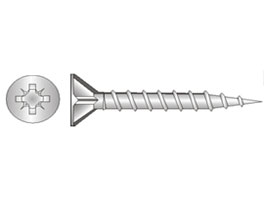 Drivefast Woodscrew Steel BMA CSK Pozi Ribbed