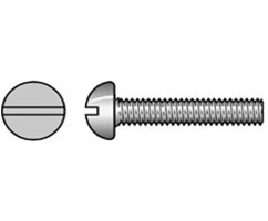 Machine Screw Imperial (BSW) Round Head Slot Brass