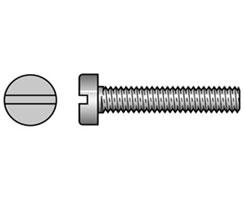 Machine Screws Brass and Steel Zinc Plated Cheese Head Slot