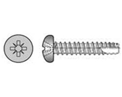 Self Tapping Screw Pan Head Pozi Type 25 Stainless Steel