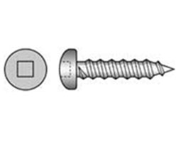 Self Tapping Screw Pan Head Square Drive Stainless Steel